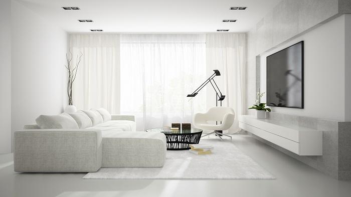 Trần thạch cao cho phòng khách phong cách tối giản