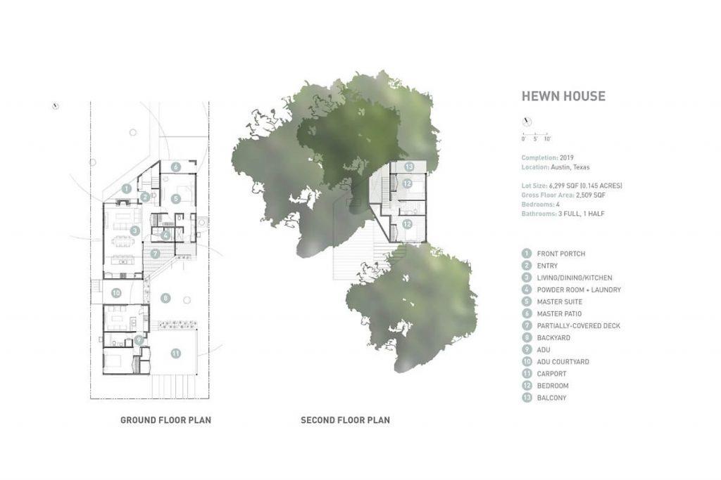 Bản thiết kế toàn cảnh căn nhà gỗ tại Texas