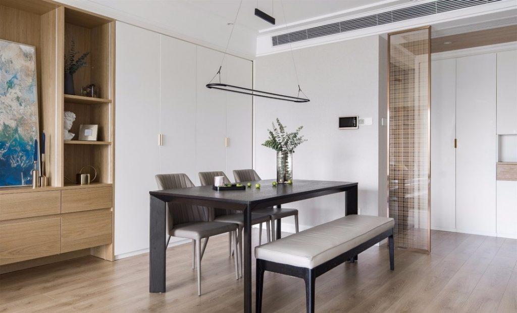 Bàn ăn và các tủ để đồ - thiết kế nội thất chung cư 100m2