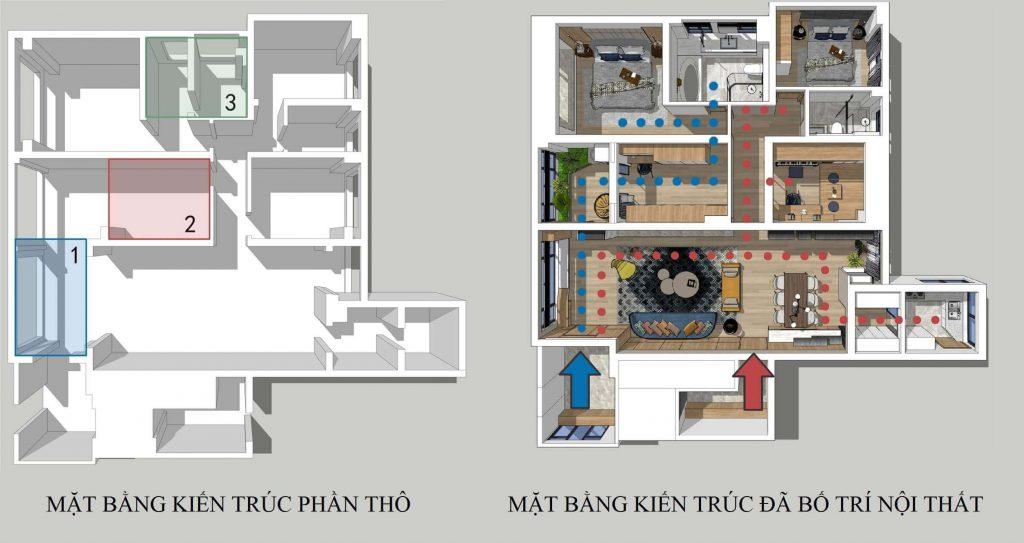 Espace architectural avant et après avoir aménagé des appartements bel appartement.