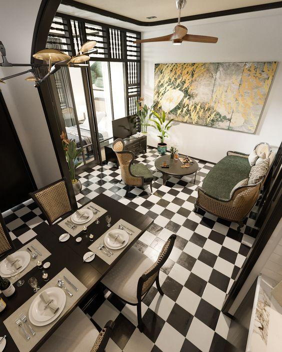 Индокитайский стиль общий интерьер жилого пространства