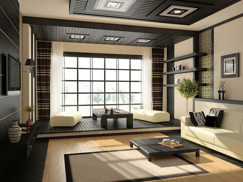 nội thất phòng khách phong cách Nhật Bản