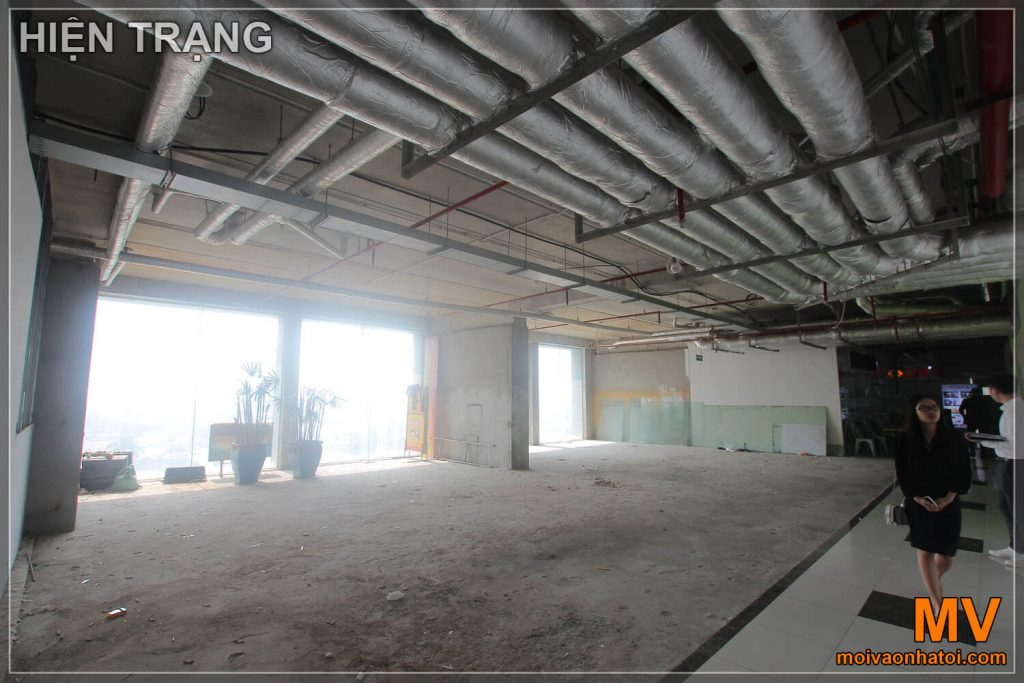 The status of the office before construction design