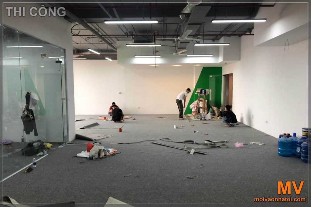 Construction of cheap office floor carpets