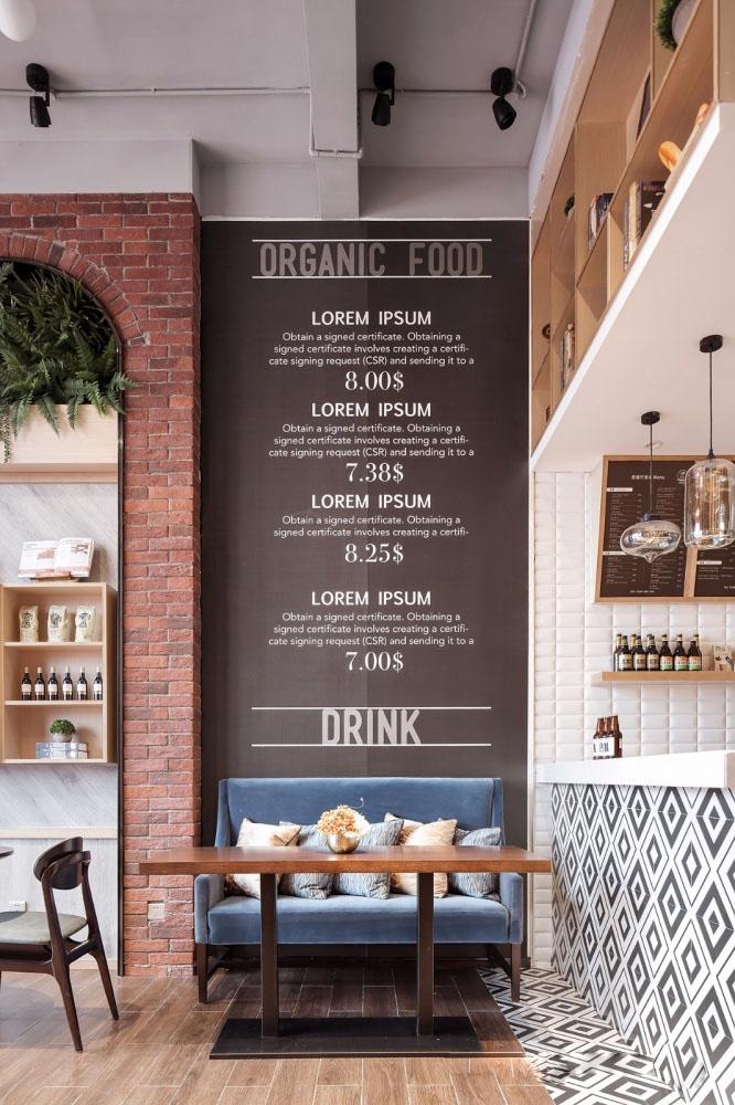 用餐厅的菜单装饰墙