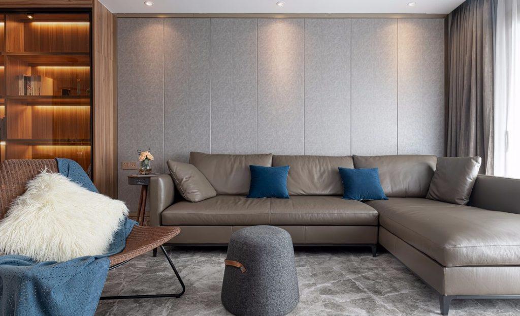 Khu vực sinh hoạt chung của căn hộ thiết kế nội thất chung cư 150m2