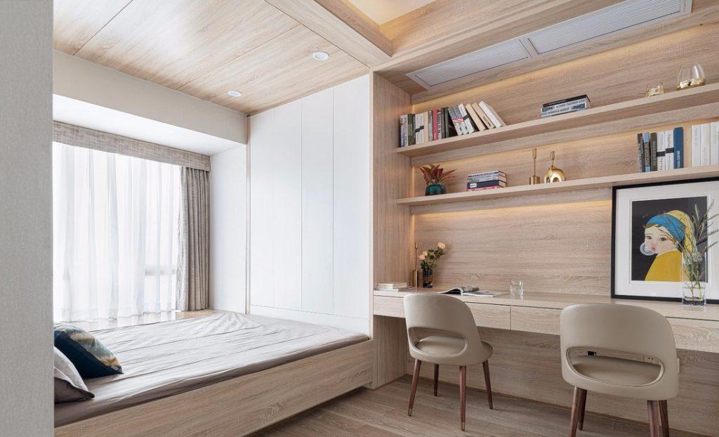 Phòng ngủ thứ ba của căn hộ chung cư ba phòng ngủ