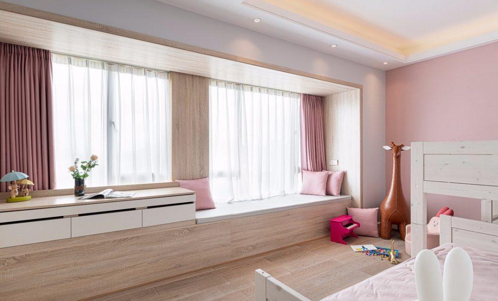 Phòng ngủ thứ hai của căn hộ có thiết kế nội thất chung cư 150m2