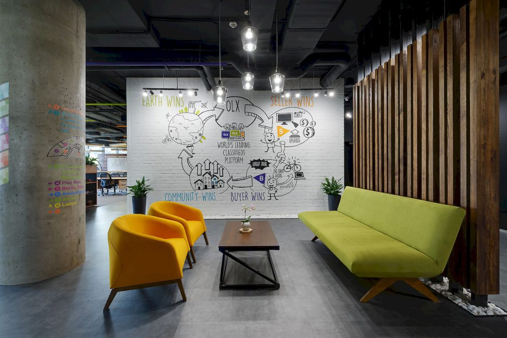 Interior design office with its own characteristics