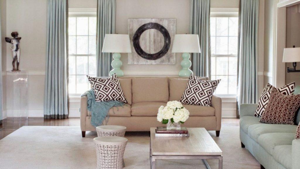 dispozice 2 oken v obývacím pokoji