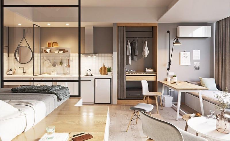 studiový bytový nábytek