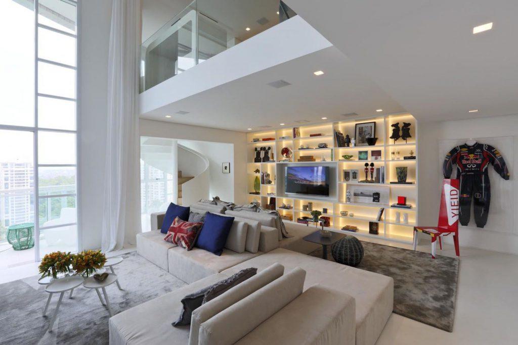 스칸디나비아 스타일의 복층 아파트 인테리어