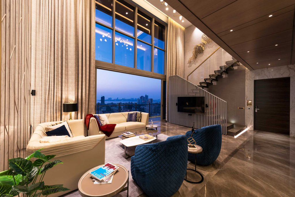 Luxury duplex living room furniture