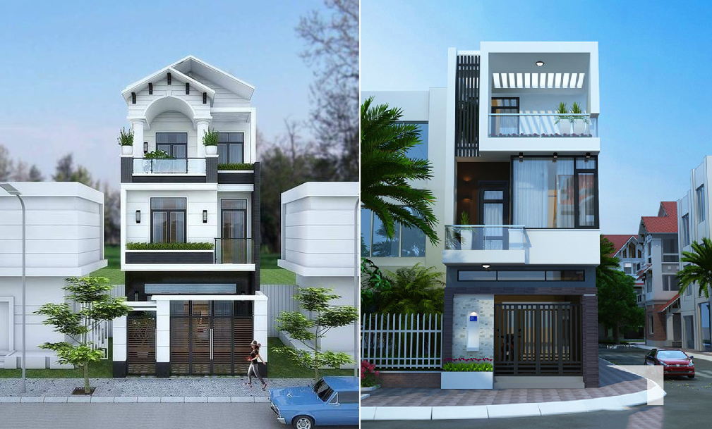 2 modern townhouses