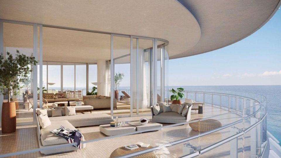 the porch of the penthouses