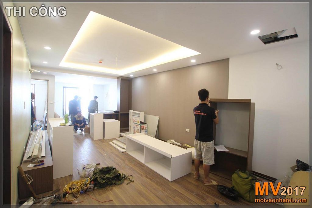 constructing apartment buildings in Vinh Hung