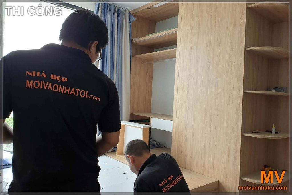 Installation of bedroom furniture industry