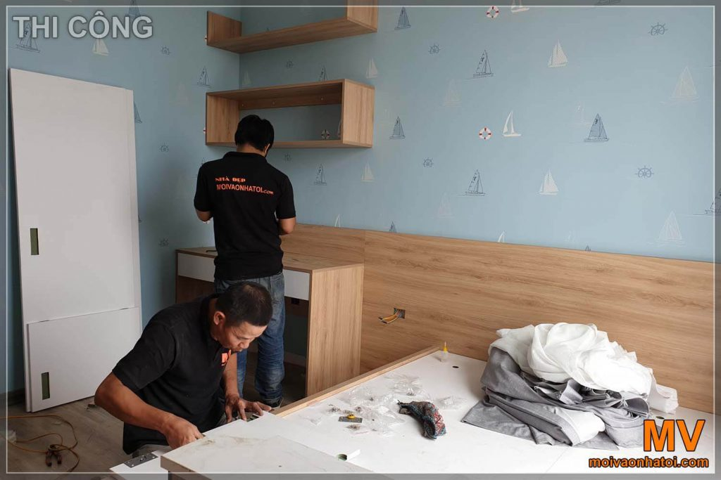 Installing child bedroom furniture