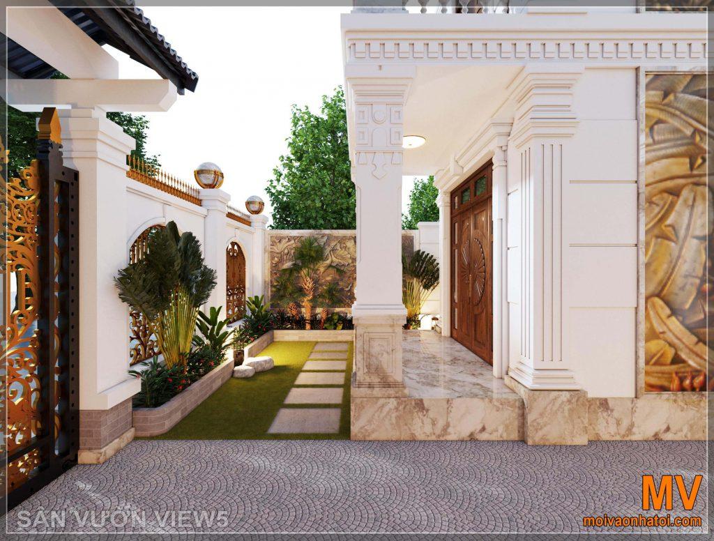 تصميم حديقة فيلا على الطراز الكلاسيكي الحديث