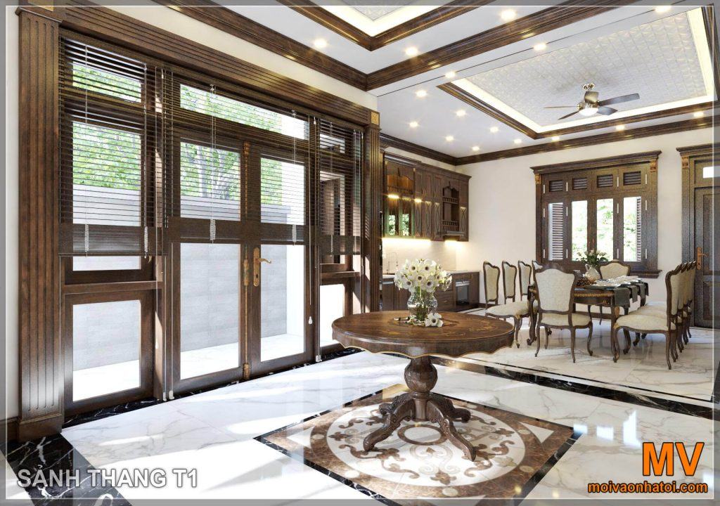 Lobby design of neoclassical villas