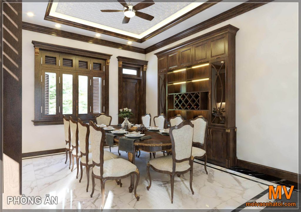 Interior design dining room for neoclassical villas