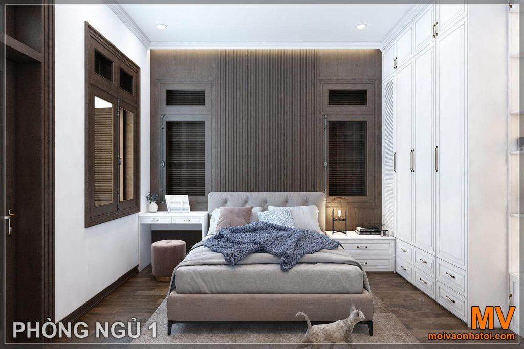 Bedroom design for neoclassical villas