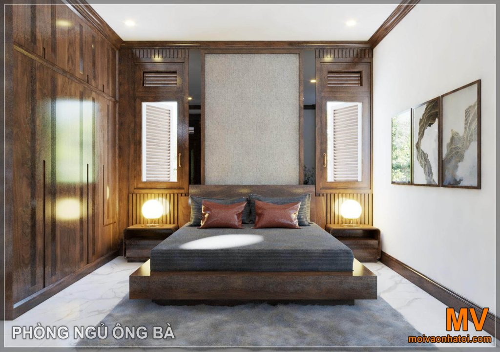 Grandparents bedroom design for neoclassical mansion