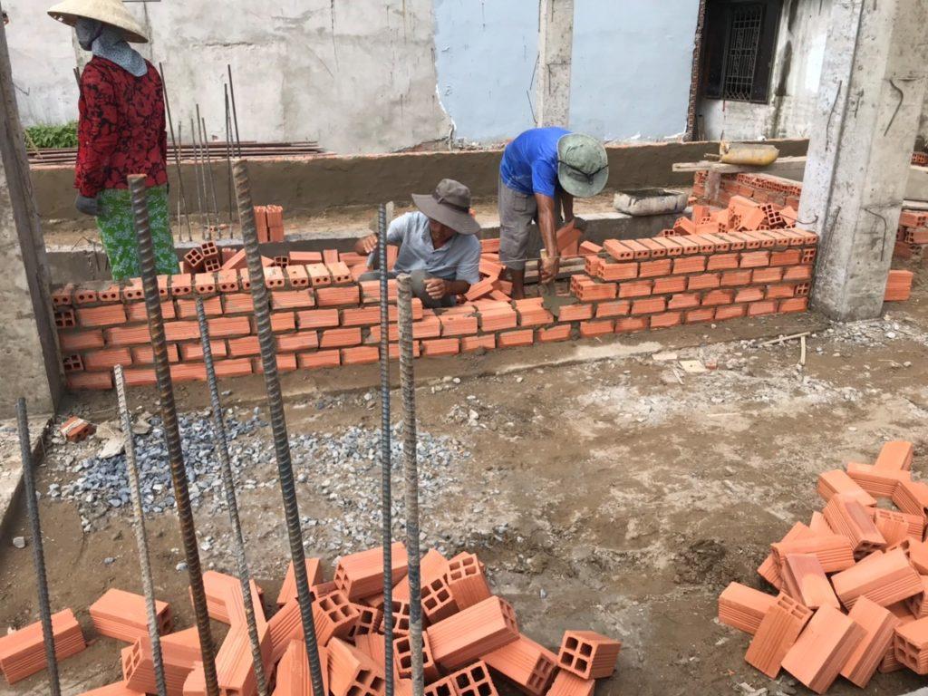 xây phần ngầm và phần thô