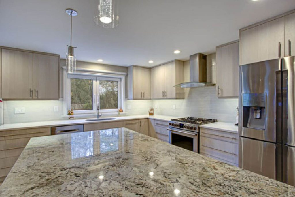 kitchen island island made of granite