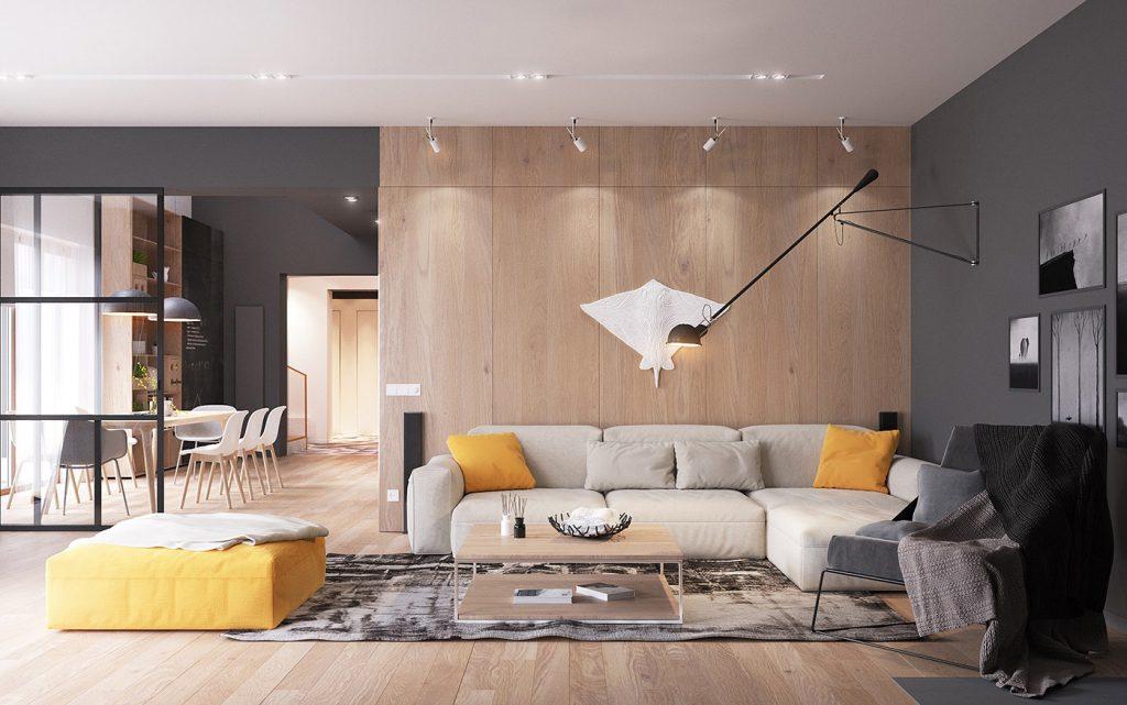 nội thất phòng khách phong cách hiện đạii