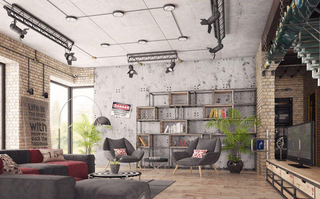 phong cách nội thất industrial