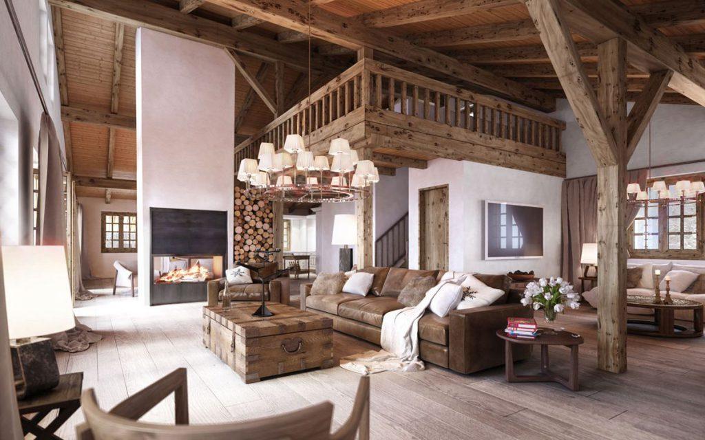 nội thất gỗ trong nhà ở