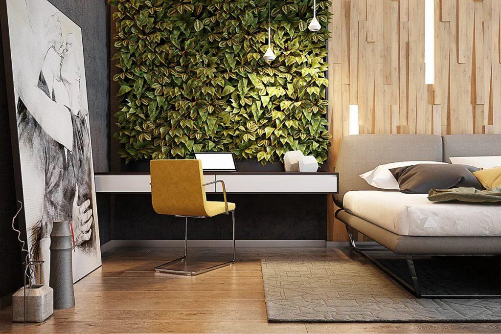 không gian xanh tại phòng ngủ