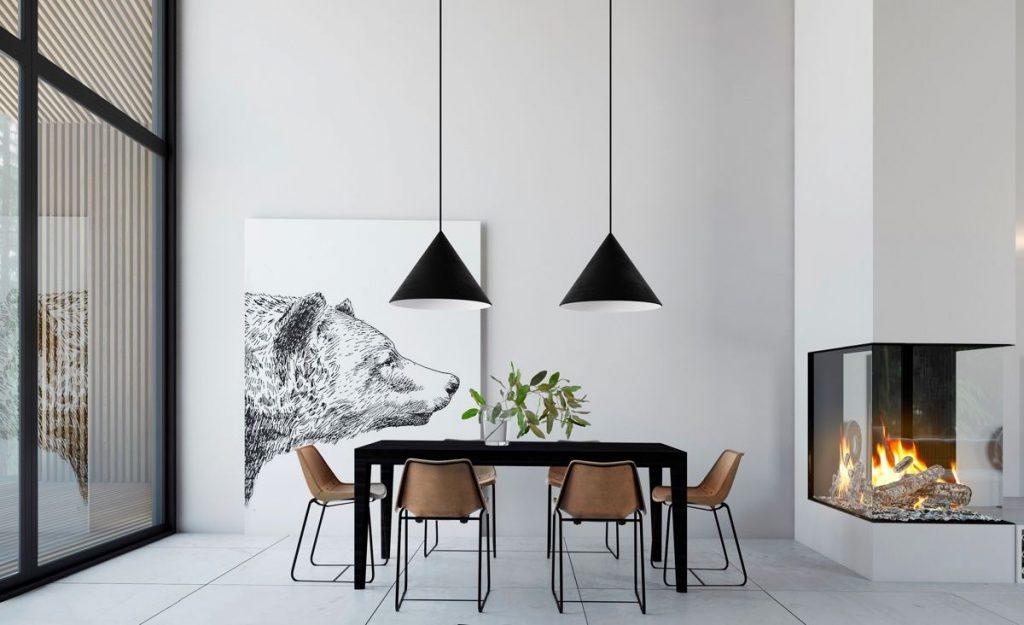 تصميم غرفة الطعام البسيط