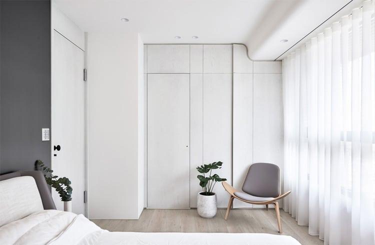 غرف نوم من الورق المقوى الأبيض