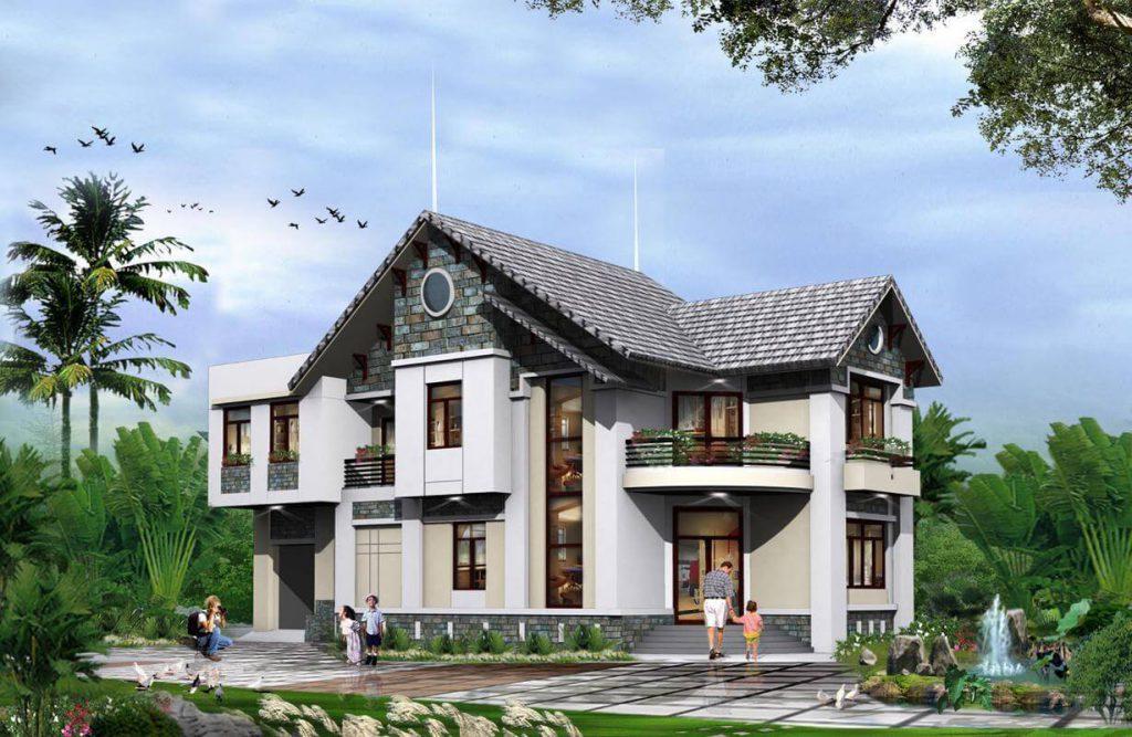 Casa modelo moderna de nível 2