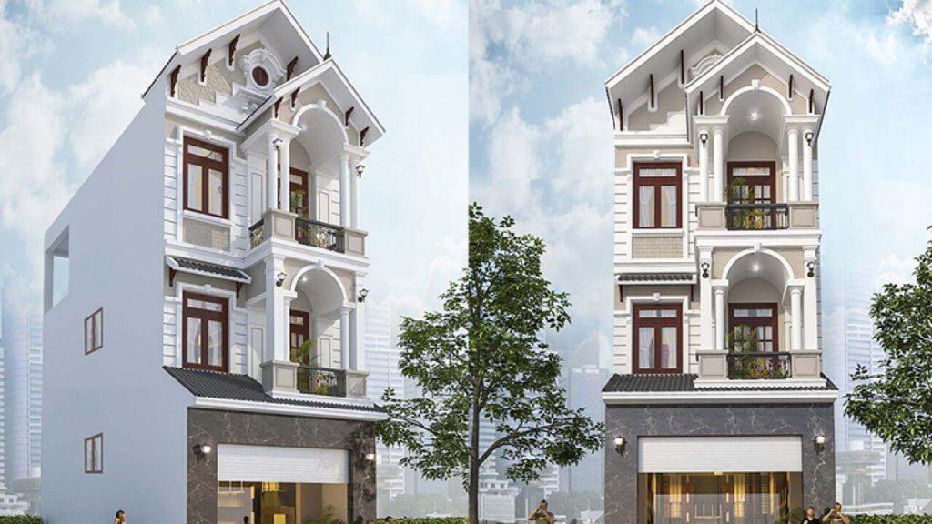 3 طوابق منزل التايلاندية سقف