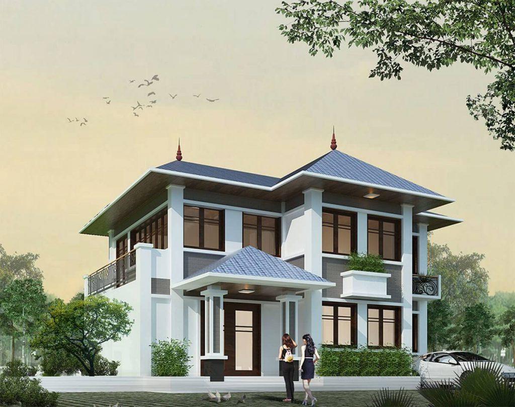 2 طوابق منزل تايلاندي على السطح