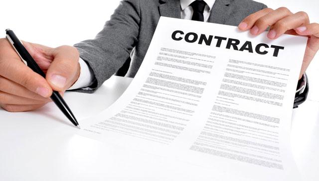ký hợp đồng thiết kế