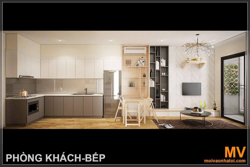 3 dデザインキッチンリビングルーム