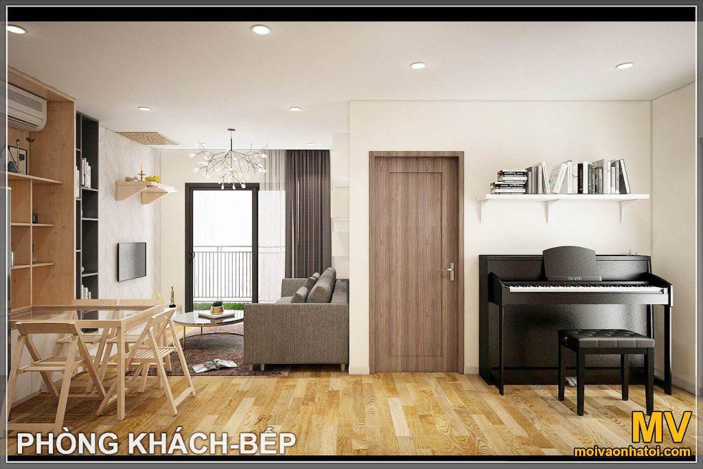 लिविंग रूम का आंतरिक डिजाइन - रसोई