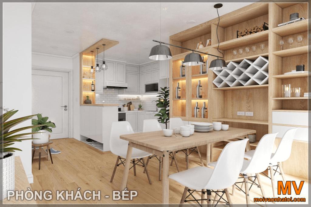 thiết kế nội thất phòng bếp căn hộ parkhill 5