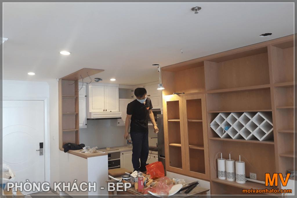 construction d'armoires de cuisine dans parkhill appartement 5