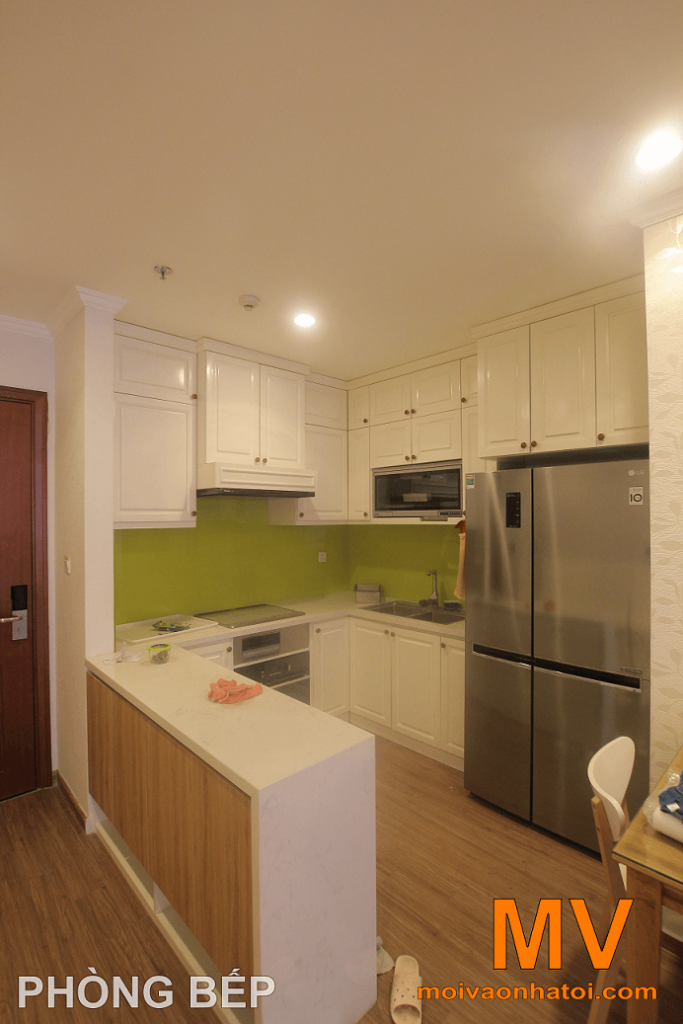 nội thất tủ bếp tại căn hộ parkhill 5
