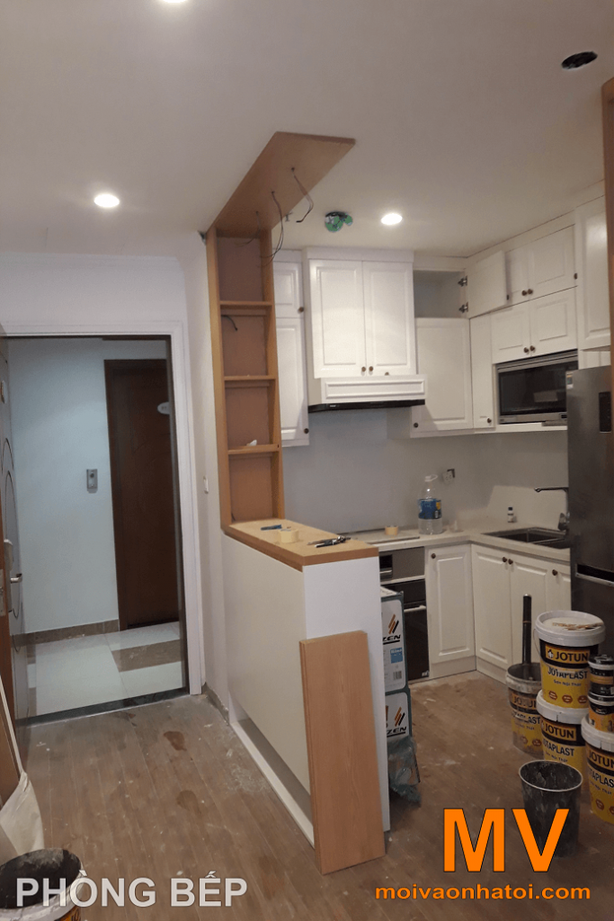 construction de meubles de cuisine dans parkhill appartement 5