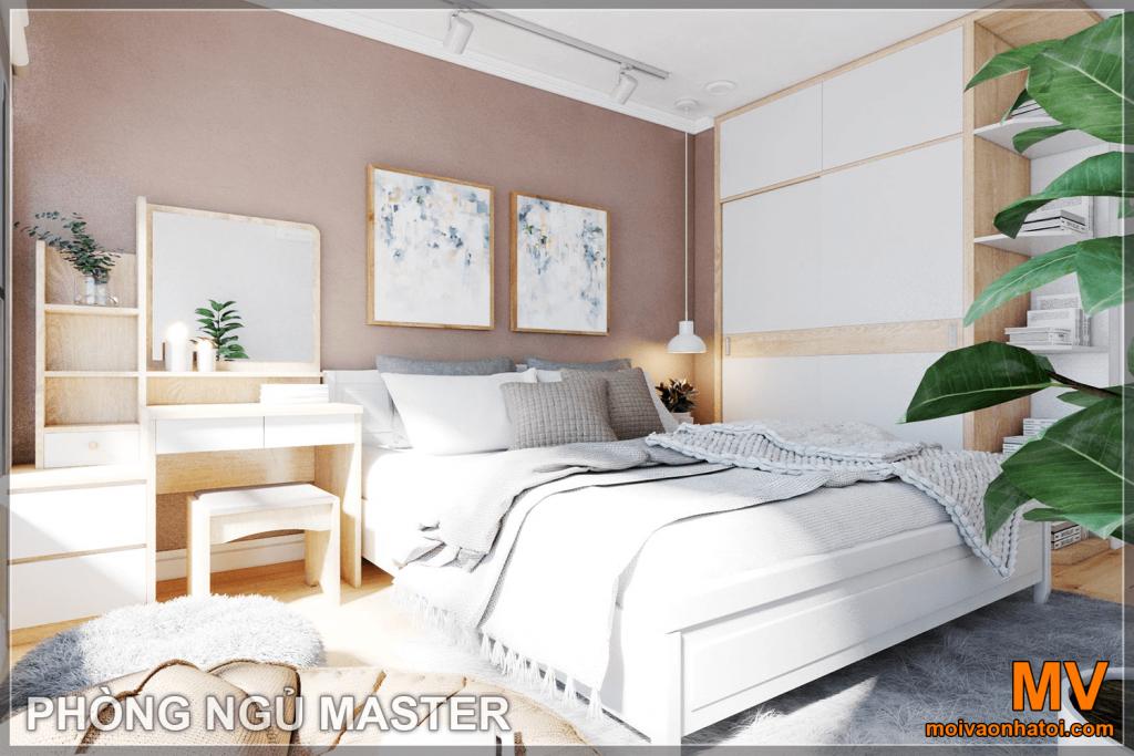 thiết kế nội thất phòng ngủ master căn hộ parkhill 5