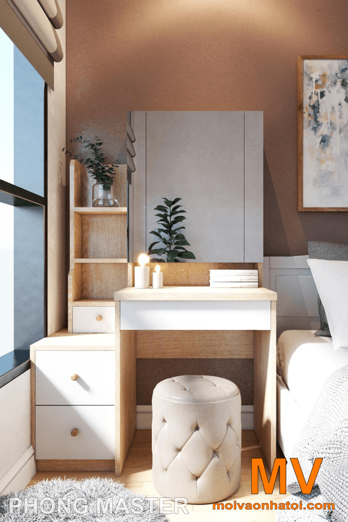 thiết kế bàn phấn tại phòng ngủ master