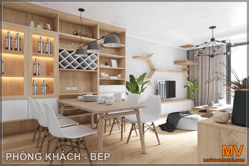 thiết kế nội thất phòng khách căn hộ parkhill 5