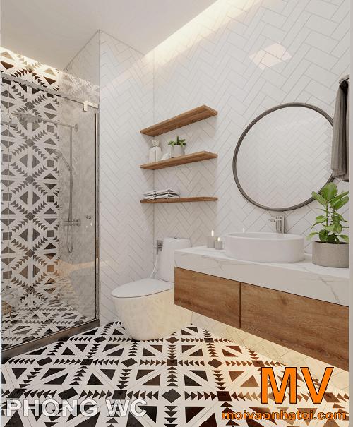 thiết kế nội thất phòng vệ sinh chung tại căn hộ parkhill 5