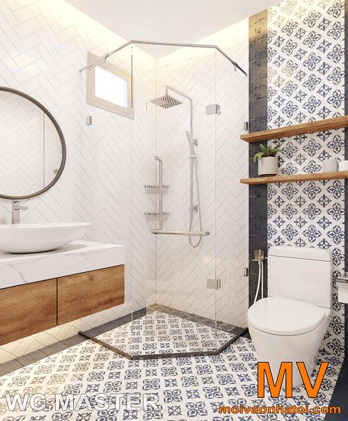 thiết kế nội thất phòng vệ sinh master tại căn hộ parkhill 5